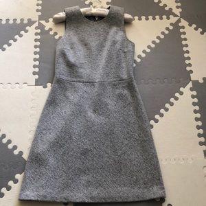 Theory size 6 dress grey wool dress